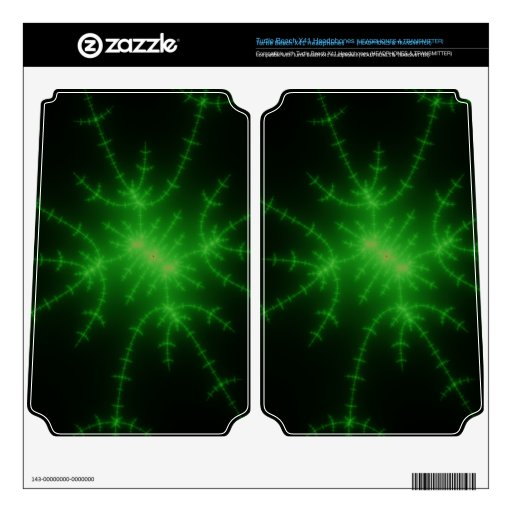 Web verde del fractal turtle beach x41 skins