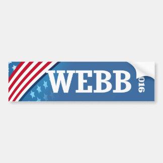 WEBB 2016 BUMPER STICKERS