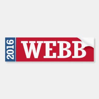 WEBB 2016 CAR BUMPER STICKER