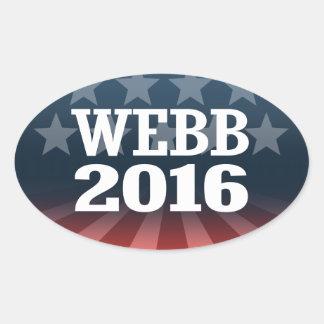WEBB 2016 OVAL STICKER