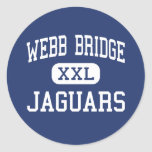 Webb Bridge Jaguars Middle Alpharetta Round Stickers