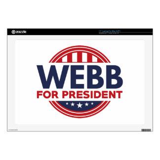 Webb For President Decals For Laptops