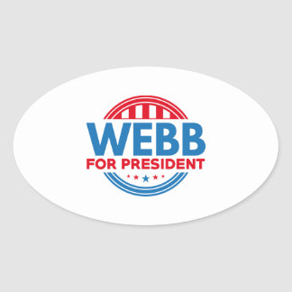 Webb For President Oval Sticker