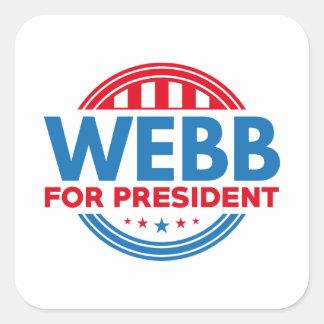 Webb For President Square Sticker