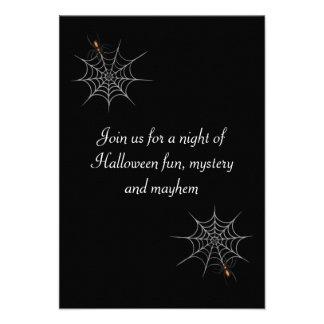 """Webbed Desire"" Halloween Party Custom Invite"