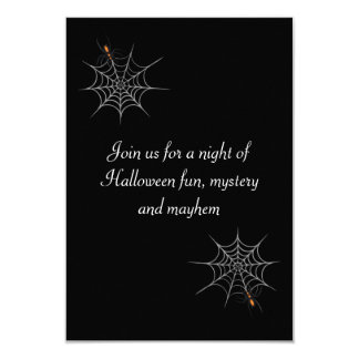 """""""Webbed Desire"""" Halloween Party 3.5x5 Paper Invitation Card"""