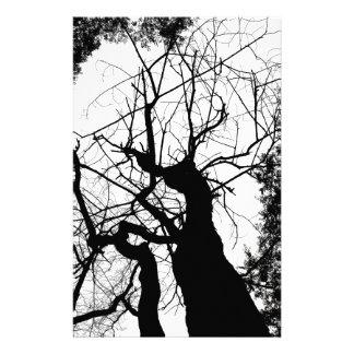 WEBBY TREE BLACK AND WHITE CUSTOM STATIONERY