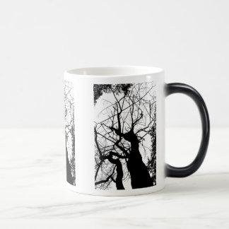 WEBBY TREE BLACK AND WHITE MAGIC MUG