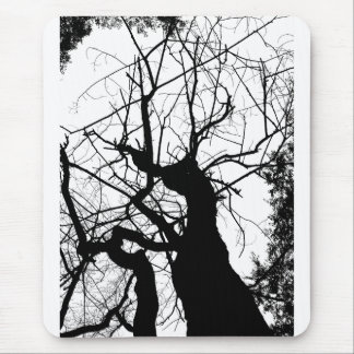 WEBBY TREE BLACK AND WHITE MOUSE PAD