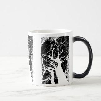 WEBBY TREE BLACK AND WHITE NEGATIVE MAGIC MUG