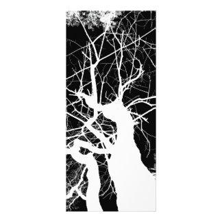 WEBBY TREE BLACK AND WHITE NEGATIVE RACK CARD