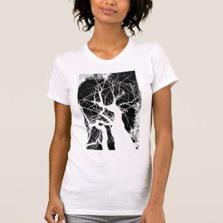 WEBBY TREE BLACK AND WHITE NEGATIVE T-Shirt