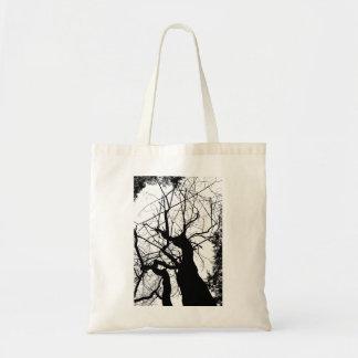 WEBBY TREE BLACK AND WHITE TOTE BAG