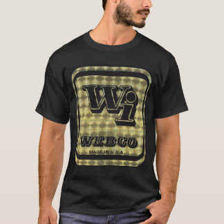Webco BMX Gold on black T-Shirt