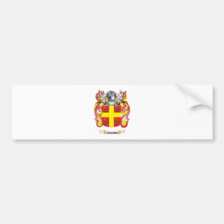 Weber Family Crest Coat of Arms Bumper Stickers