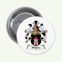 Weber Family Crest Button