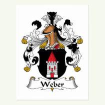 Weber Family Crest Postcard
