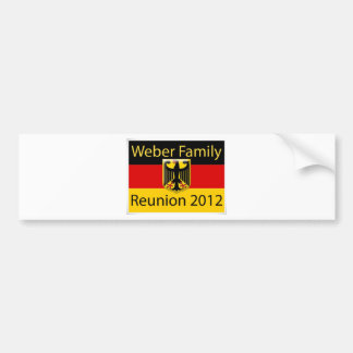 Weber Family Reunion jpg Bumper Stickers