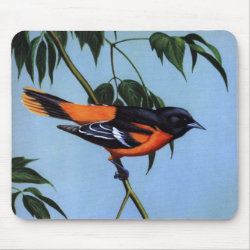 Mousepad with Weber's Baltimore Oriole design