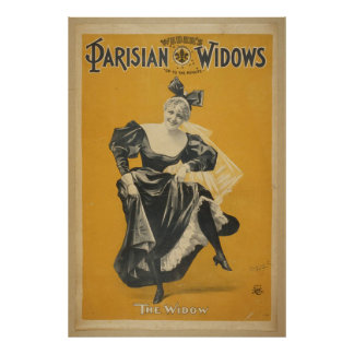 Weber's Parisian widows up to the minute Poster