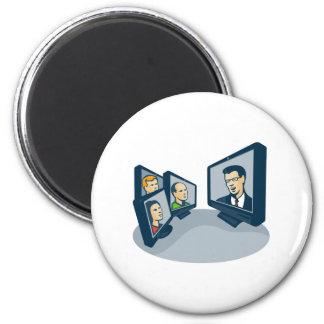 Webinar Video Conference Retro 2 Inch Round Magnet