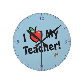 Webkinz: ¡Amo a mi profesor! Reloj Redondo Mediano