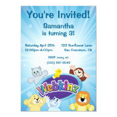"""Webkinz: Come In and Play 5"""" X 7"""" Invitation Card at Zazzle"""