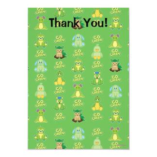 "Webkinz Go Green Pattern 5"" X 7"" Invitation Card"