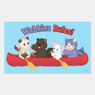 Webkinz | Webkinz Rules Canoe Trip 2 Rectangular Sticker