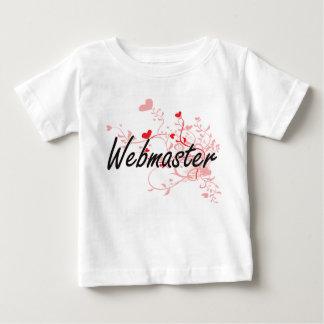 Webmaster Artistic Job Design with Hearts Tshirts