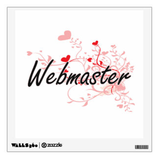 Webmaster Artistic Job Design with Hearts Wall Skin