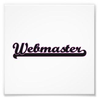Webmaster Classic Job Design Photo Print