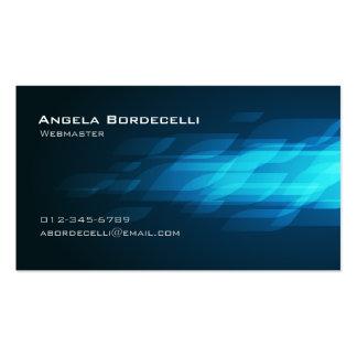 Webmaster Computer InternetTechnical BlueFlashback Business Card
