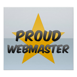 Webmaster orgulloso poster