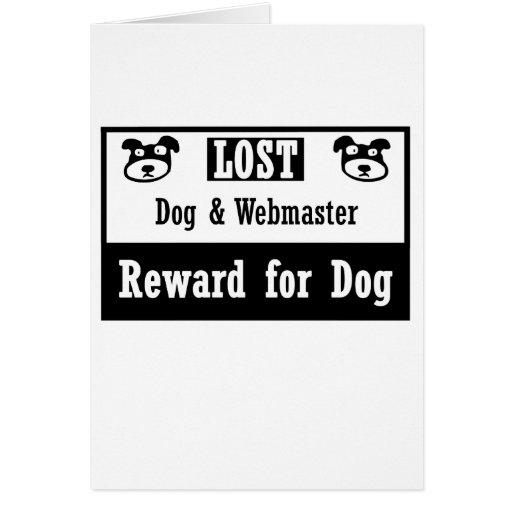 Webmaster perdido del perro tarjeta pequeña