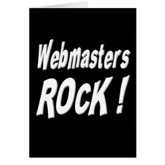 Webmasters Rock! Greeting Card