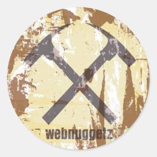 Webnuggetz Circle Logo Gifts Classic Round Sticker
