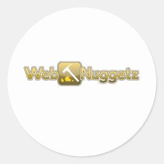 Webnuggetz Logo 1 Classic Round Sticker