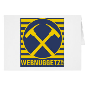 Webnuggetz Logo Blue Axes Greeting Cards