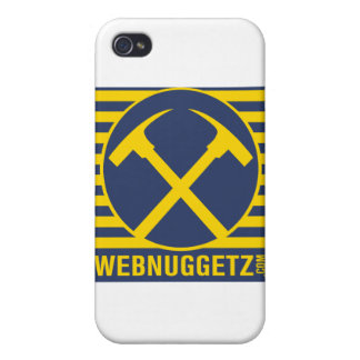 Webnuggetz Logo Blue Axes iPhone 4/4S Cases