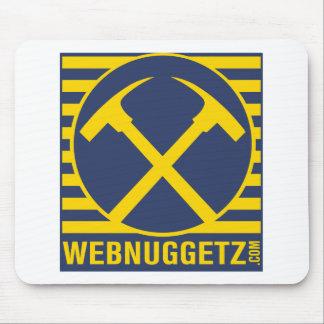 Webnuggetz Logo Blue Axes Mouse Pad
