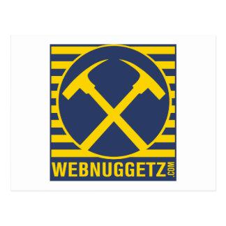 Webnuggetz Logo Blue Axes Postcard