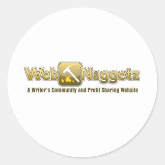 Webnuggetz logo classic round sticker