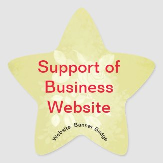 Website Banner Badge SUPPORTER OF Star Sticker