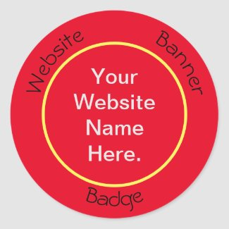 Website Banner Badges Classic Round Sticker