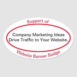 Website Banner Bange SUPPORT OF Oval Sticker