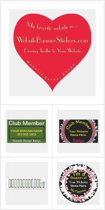 Website Banner Sticker Badges