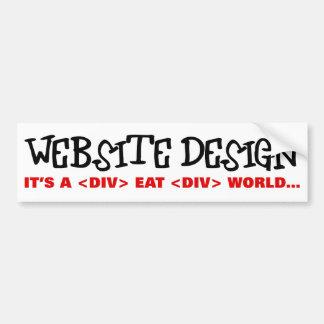 Website Design is an Eat or be Eaten Industry Car Bumper Sticker