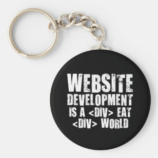 Website development is a competitive career choice basic round button keychain
