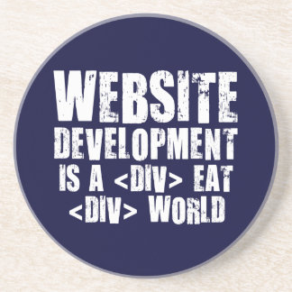 Website development is a competitive career choice drink coasters